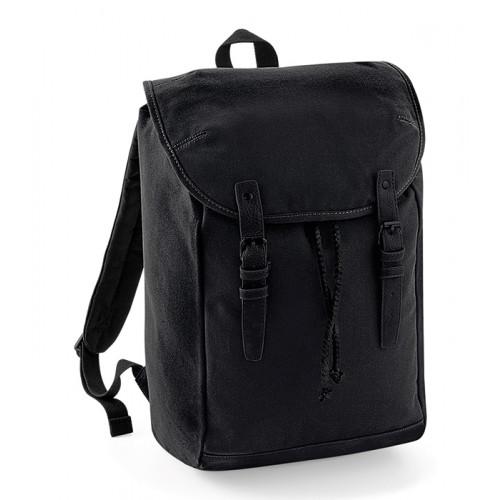 Quadra Vintage Rucksack Black/Black