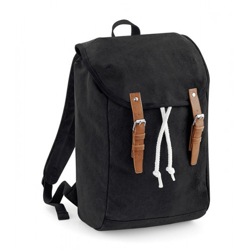 Quadra Vintage Rucksack Black