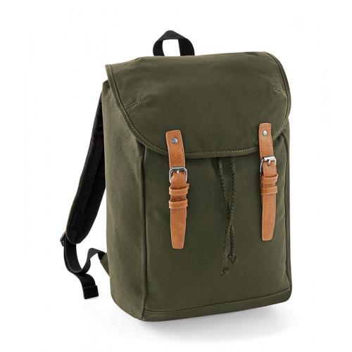 Quadra Vintage Rucksack MilitaryGreen