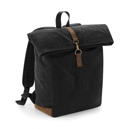 Quadra Heritage Waxed Canvas Backpack Black