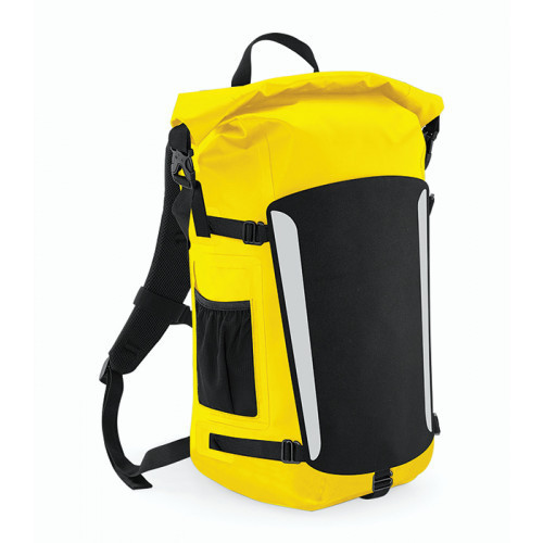Quadra SLX 25 Litre Waterproof Backpack Black/Yellow