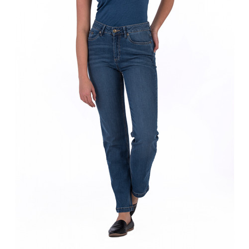 So Denim Ladies Katy Straight Jeans Mid Blue Wash