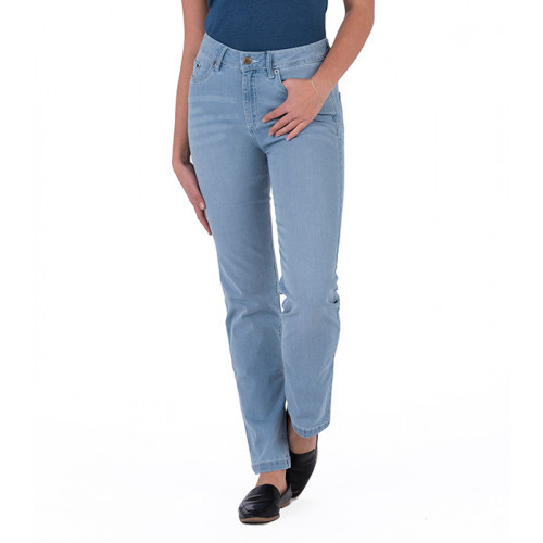 So Denim Ladies Katy Straight Jeans Light Blue Wash