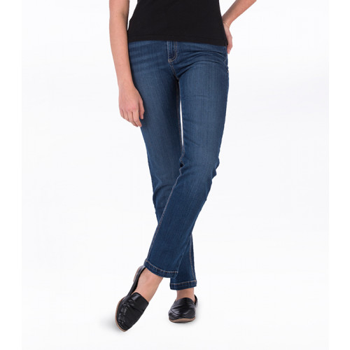 So Denim Ladies Katy Straight Jeans Dark Blue Wash