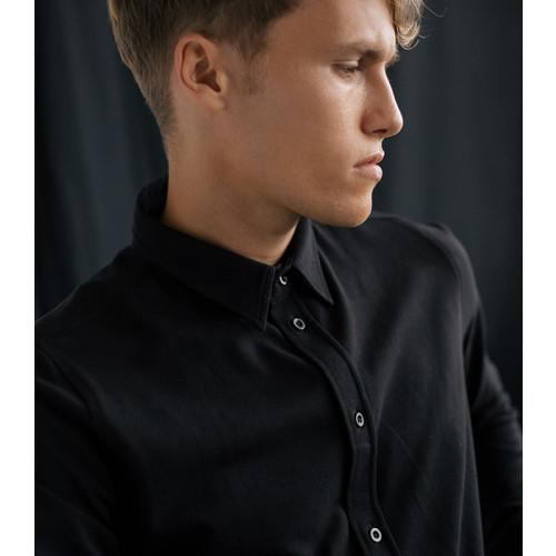 So Denim Oscar Knitted Shirt Black