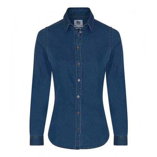 So Denim Lucy Denim Shirt Dark Blue
