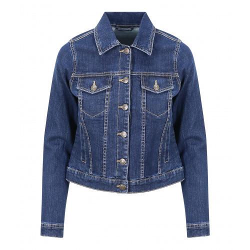 So Denim Olivia Denim Jacket Dark Blue Wash