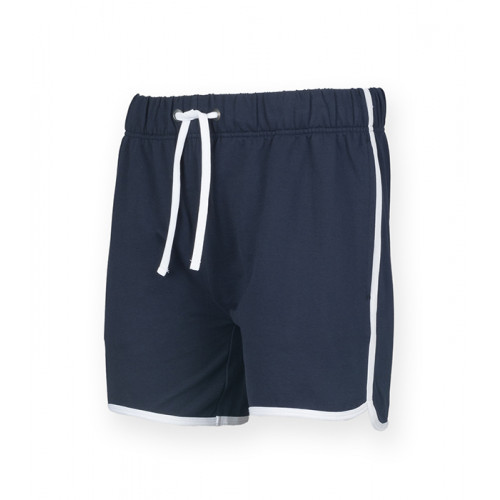 Skinni Fit Men's Retro Shorts Navy/White
