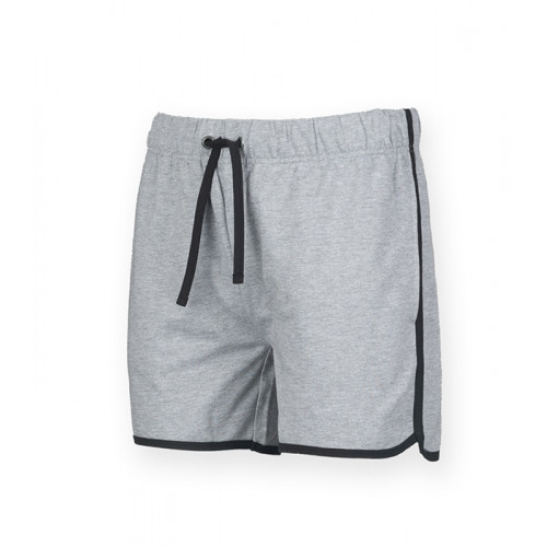 Skinni Fit Men's Retro Shorts Heather Grey/Black