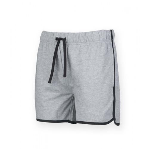 Skinni Fit Men's Retro Shorts Heather Grey/Black