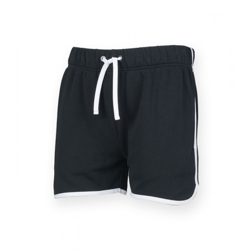 Skinni Fit Men's Retro Shorts Black/White