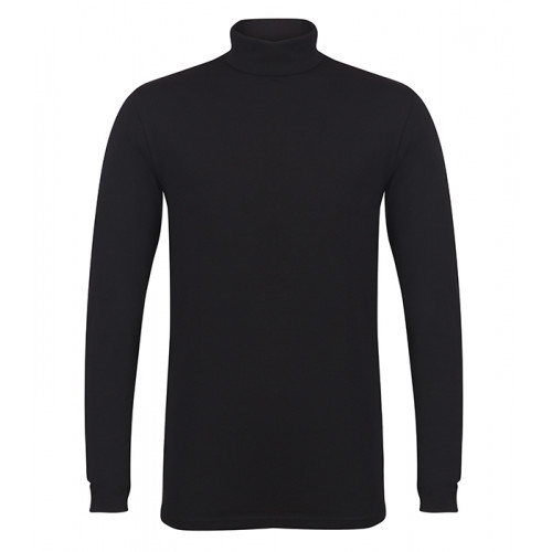 Skinni Fit Men's Feel Good Roll Neck Top Black