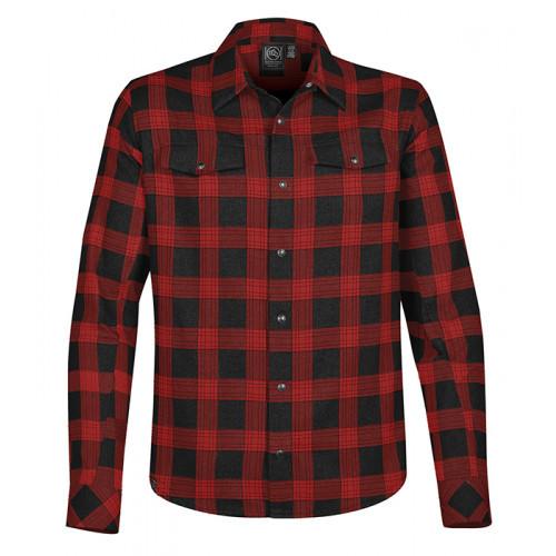 Stormtech Logan Snap Front Shirt Black / Red Plaid