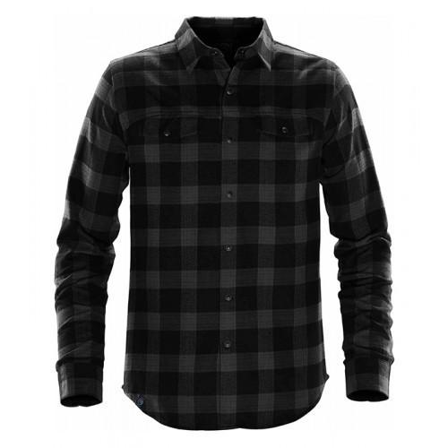 Stormtech Logan Snap Front Shirt Carbon Plaid