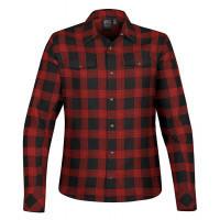 Stormtech Women´s Logan Snap Front Shirt Black/Red Plaid