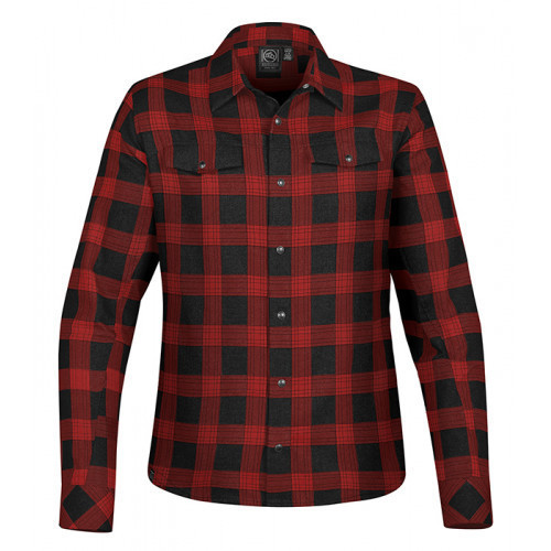 Stormtech Women´s Logan Snap Front Shirt Black/Red Plaid