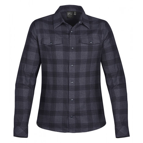 Stormtech Women´s Logan Snap Front Shirt Earth/Navy