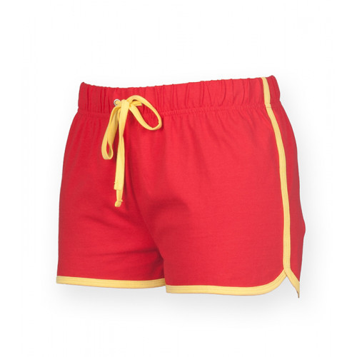 Skinnifit Women's retro shorts Red/Yellow