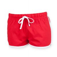 Skinnifit Women's retro shorts Red/White