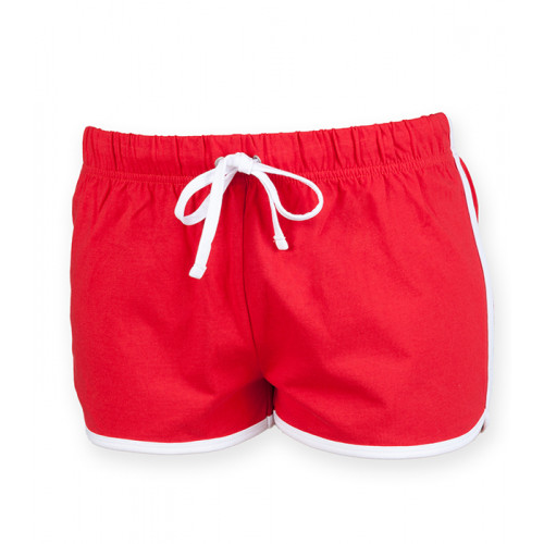 Skinnifit Women's retro shorts Red/White