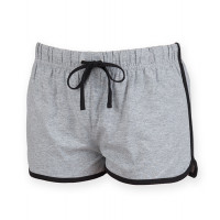 Skinnifit Women's retro shorts HeatherGrey/Black