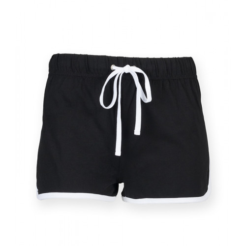 Skinnifit Women's retro shorts Black/White