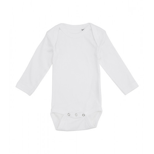 Label Free Baby Body Long Sleeve White