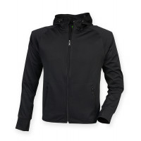 Tombo Men's Hoodie with Reflective Tape Black