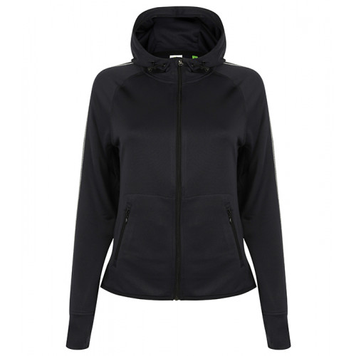 Tombo Ladies Hoodie with Reflective Tape Navy