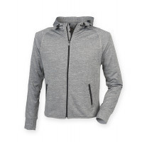 Tombo Ladies Hoodie with Reflective Tape Grey Marl