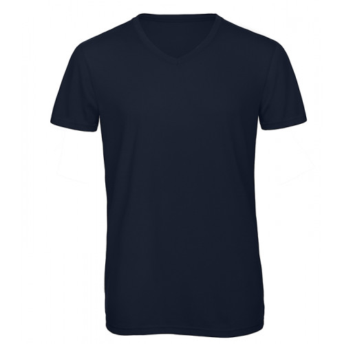 B and C Collection Men's V-neck Triblend NAVY