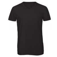 B and C Collection Men's V-neck Triblend Black