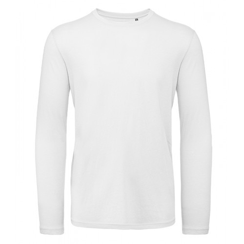 B and C Collection B&C Inspire LSL T men White