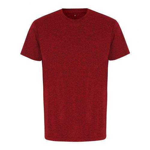 Tri Dri TriDri® performance t-shirt Red/Black Melange