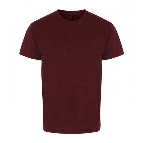 Tri Dri TriDri® performance t-shirt Burgundy/Black Melange