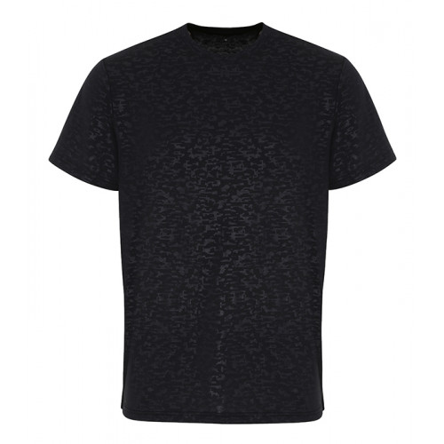 Tri Dri Mens TriDri ® Burn Out T shirt Black