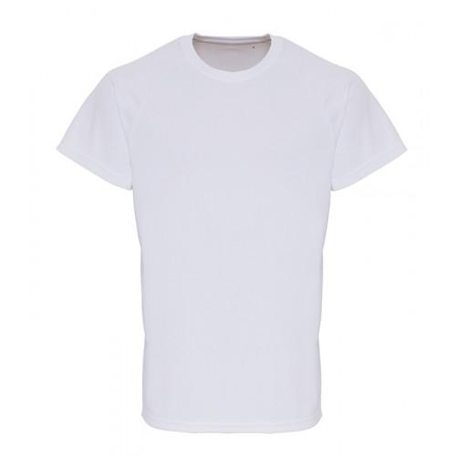 Tri Dri Mens TriDri ® Embossed Sleeve T shirt White