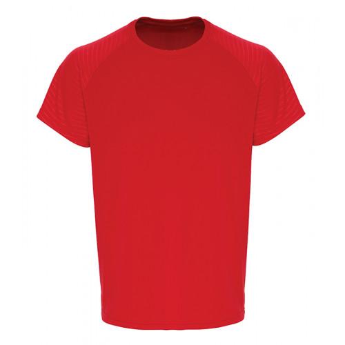 Tri Dri Mens TriDri ® Embossed Sleeve T shirt Fire Red