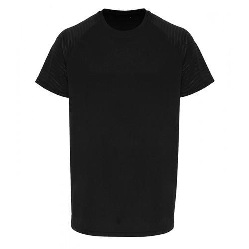 Tri Dri Mens TriDri ® Embossed Sleeve T shirt Black