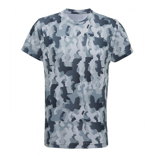 Tri Dri Men's TriDri Hexoflage™ performance t-shirt Camo Silver