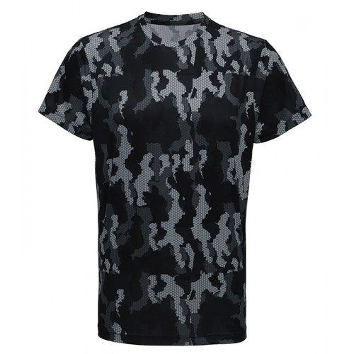 Tri Dri Men's TriDri Hexoflage™ performance t-shirt Camo Charcoal