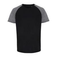 Tri Dri Mens TriDri ® Contrast Sleeve Performance Tshirt Black/Black Melange