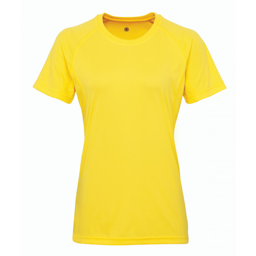 Tri Dri Women's panelled TriDri® tech tee Sun Yellow