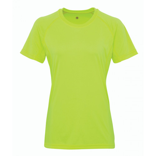 Tri Dri Women's panelled TriDri® tech tee Lightning Green