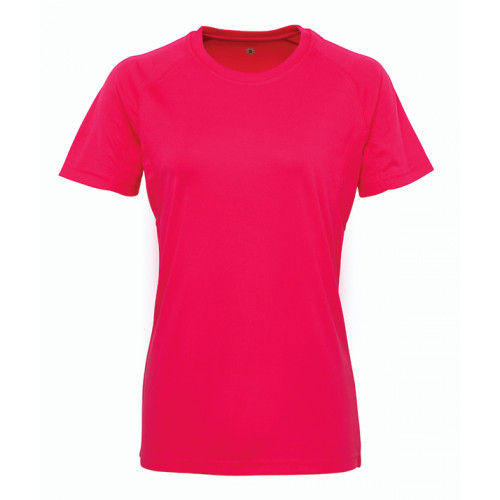 Tri Dri Women's panelled TriDri® tech tee Hot Pink