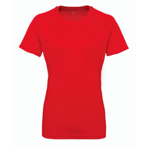 Tri Dri Women's panelled TriDri® tech tee Fire Red