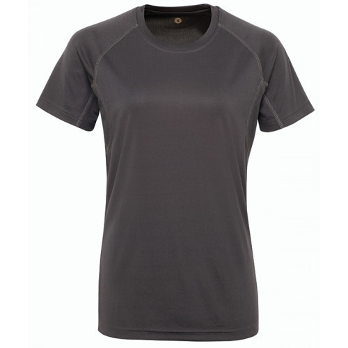 Tri Dri Women's panelled TriDri® tech tee Charcoal