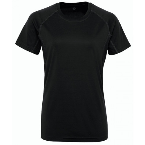 Tri Dri Women's panelled TriDri® tech tee Black