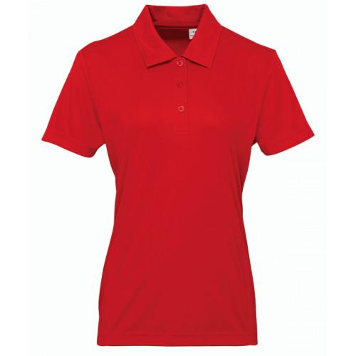 Tri Dri Women's panelled TriDri® polo Fire Red