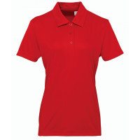 Tri Dri Women's panelled TriDri® polo Fire Red